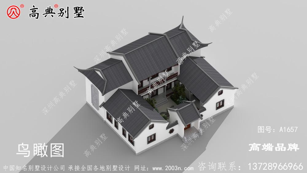 四合院房子设计,庭院还可以种树种花,养鸟养鱼,叠石迭景