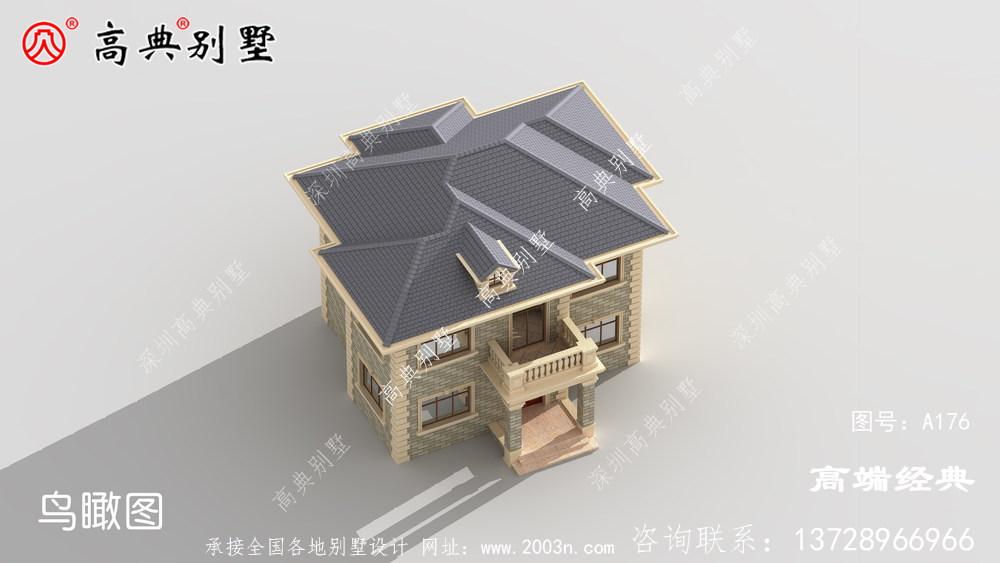 小户型别墅,二层带露台设计增加了休息的舒适度
