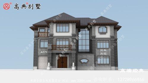大户型三层中式住宅,