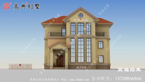 农村复式三层别墅,每