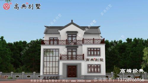 复式三层中式风格别墅,完全满足你的居住需要