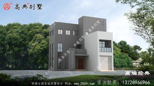 乡村自建四层现代别墅设计图纸,在农村这套最受欢迎,南方北方都可以建